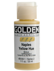 Golden, Fluid Acrylics, Artist Quality, Naples Yellow Hue 2438, 1 fl.oz, Scrapify, Australia