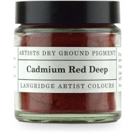Langridge Dry Ground Pigment 120ml - Cadmium Red Deep, Scrapify, Australia