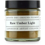Langridge Dry Ground Pigment 120ml - Raw Umber Light, Scrapify, Australia