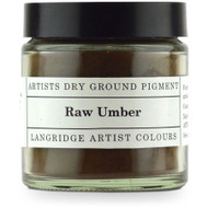 Langridge Dry Ground Pigment 120ml - Raw Umber, Scrapify, Australia