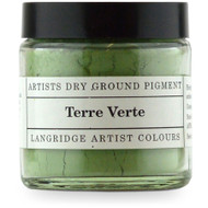 Langridge Dry Ground Pigment 120ml - Terre Verte, Scrapify, Australia