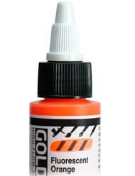Golden, High Flo Acrylics, Artist Quality, Fluorescent Orange, 1fl oz, Scrapify, Australia