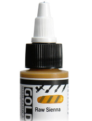 Golden, High Flo Acrylics, Artist Quality, Raw Sienna, 1fl oz, Scrapify, Australia