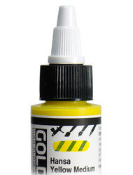 Golden, High Flo Acrylics, Artist Quality, Hansa Yellow Medium, 1fl oz, Scrapify, Australia