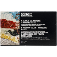 Golden, Artists Colors, 6 Acrylic gel mediums and molding pastes, Scrapify, Australia