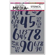 Dina Wakley Media, stencils and masks, ranger, Jumbled Numbers, Scrapify, Australia