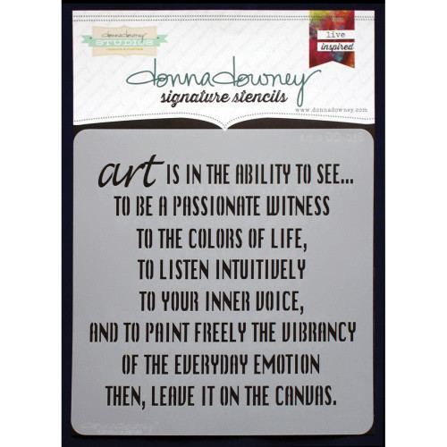 Donna Downey Signature Series Stencils - Art Is, DD038, Scrapify, Australia