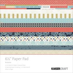 Kaisercraft  6.5in, Paper Pad, Blubelle, Design paper, 40 Page Pad, 2x12 sheets Designed Paper, 12xSpecialty Papers, 4xDie Cut Pages, Scrapify, Australia