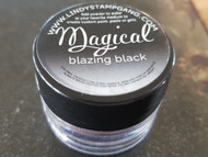 Lindy's Stamp Gang - Pigment Powders - Magicals - blazing black, Scrapify, Australia