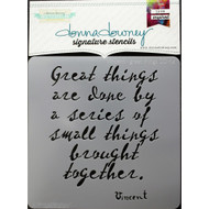 Donna Downey Signature Series Stencils, Vincent Great Things DD114, 8.5 x 8.5in, Scrapify, Australia