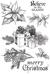 """Kaisercraft, Clear Stamps, Christmas Edition, 7 Pieces, 6"""" x 4"""", Scrapify, Australia"""