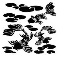 "The Crafter's Workshop Stencils 12""x12"" - Koi Pond"
