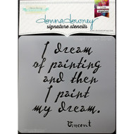 Donna Downey Signature Series Stencils, Vincent I Dream, 8.5 x 8.5in, Scrapify, Australia