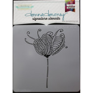 Donna Downey Signature Series Stencils - Tangled Flower DD141, Scrapify, Australia