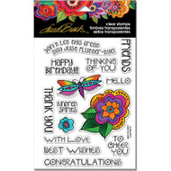 Stampendous Laurel Burch Cling Stamp, Floral Greetings, Scrapify, Australia