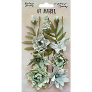 49 and Market, Flowers, Vintage Shades Cluster – Sage, Scrapify, Australia