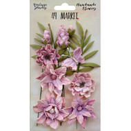 49 and Market, Flowers, Vintage Shades Cluster – Orchid, Scrapify, Australia