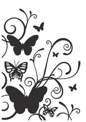 Kaisercraft, Embossing Folder, Butterfly Flourish, EF237, Scrapify, Australia