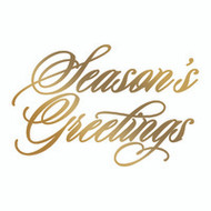 COUTURE CREATIONS, GoPress and Foil,  Hotfoil, Foil Stamp Die, 72 x 47 mm, Season's Greetings, Scrapify, Australia