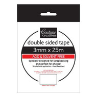 Couture Creations, Double Sided Tape, 3mm x 25m, Scrapify, Australia