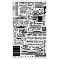 Tim Holtz Idea-ology - Remnant Rubs - Special Delivery, Scrapify, Australia