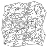 """The Crafter's Workshop Stencils 6""""x6"""" - Mini Shattered Triangles"""