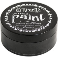 Dylusions Paint 2oz - Black Marble, Scrapify, Australia