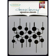 Donna Downey Signature Series Stencils - Circuit Board, Scrapify, Australia