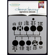 Donna Downey Signature Series Stencils - Circuit Board 2, Scrapify, Australia