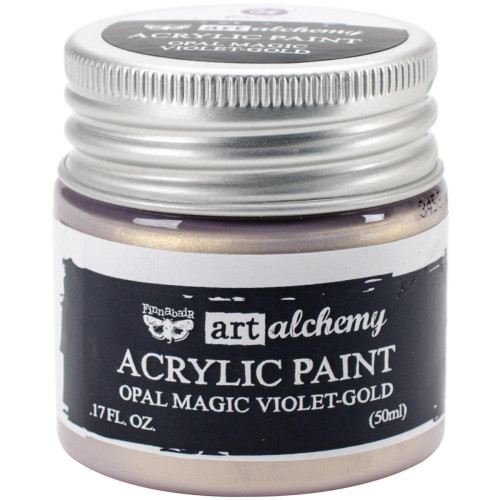 Prima Finnabair Art Alchemy Acrylic Paint - Opal Magic Violet-Gold, Scrapify, Australia