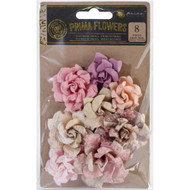 Prima Marketing-Tales Of You & Me Flowers: Je Suis Amoureuse. These delicate flowers feature a beautiful design that will compliment any project! This package contains eight flowers measuring between 1-1/4 inches and 2 inches. Comes in a variety of colors.