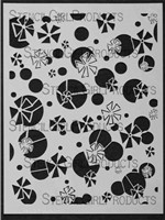 Retro Flowers and Circles Stencil Designed By Jessica Sporn For Stencil Girl