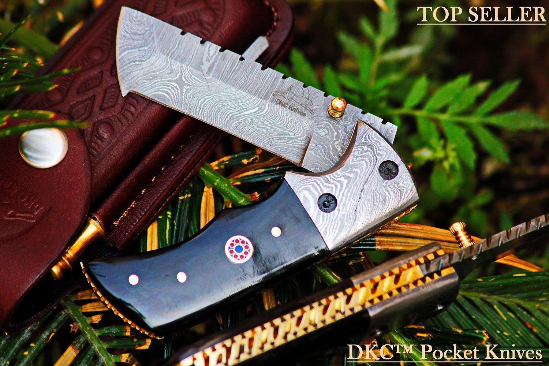 Damascus Steel Folding Pocket Knife