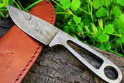 "DKC-74 WILDCAT Damascus Folding Pocket Knife 6.5"" Long Long 2.9 oz oz High Class Looks Incredible Feels Great In Your Hand And Pocket Hand Made DKC Knives TM"