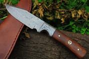 "DKC-516 HUNTER Damascus Hunting Handmade Knife Fixed Blade 7.9 oz 9 """