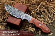 "DKC-514 TRAIL MASTER Damascus Hunting Handmade Knife Fixed Blade 7.5 oz 9"" Long"