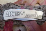 "DKC-1200-B San Francisco Knife Custom Hand Engraved Minted In Antique Brass 4.5 oz 6.75"" Long Open 2 7/8"" Blade 4"" Closed DKC MINT SERIES"
