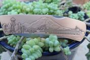 DKC-1203-B Seattle Knife Custom Minted Engraved Antique Brass