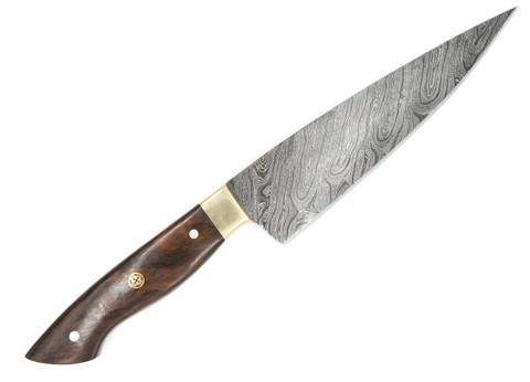 "DKC-1009 MONTEREY CHEF Knife Damascus Steel Blade 7.5 "" Blade 13"" Overall 10 oz"