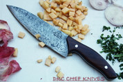 "DKC-197-x KINION CHEF Knife Blade 7.5 "" Rosewood Handle 4"" 12"" Overall 11.5 oz DKC Knives (Damascus Steel)"