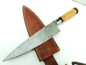 "DKC-836 Tahoe Chef Knife Damascus Steel Knife DKC Knives (TM) 15 oz 8.25"" Blade 13.25"" Overall"