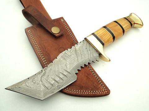 "DKC-823 Tiger Rat Damascus Steel Knife Tracker Bowie Survival DKC Knives (TM) 14oz 6"" Blade 10.5"" Overall Active (DKC-823)"