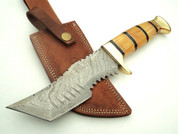 "DKC-823 Tiger Rat Damascus Steel Knife Tracker Bowie Survival DKC Knives (TM) 14oz 6"" Blade 10.5"" Overall Active (DKC-823)"