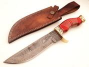 "DKC-814 SUJA Bowie Damascus Steel Knife 12.5"" Overall 7.5"" Blade 18 oz (DKC-814) DKC Knives"