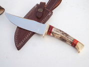 """DKC-717-440c BALD EAGLE 440 c Stainless Steel Bowie Hunting Handmade Knife Stag Horn Fixed Blade 9.8oz 10 """" Long 5"""" Blade DKC KNIVES (DKC-717-440c)"""