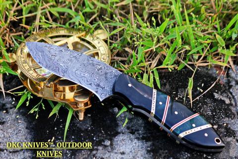 """DKC-125 JADEMAN Damascus Steel Knife DKC Knives (TM) 9 oz 3.75"""" Blade 8.5"""""""" Overall"""