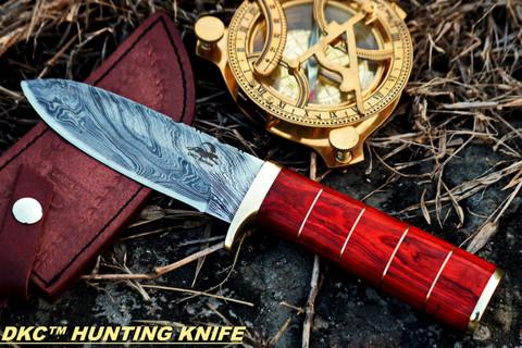 "DKC-723 TRINITY Damascus Steel Bowie Hunting Handmade Knife Fixed Blade 11 oz 10"" Long 5"" Blade DKC KNIVES (DKC-723)"