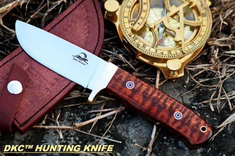 "DKC-602-440c TIGER JACK Compact Stainless Steel Bowie Hunting Knife 8.5"" Long, 4"" Blade 8 oz ! Rare Snakewood"