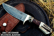 """DKC-716 Banchee Fixed Blade Knife Damascus Steel Hunting Bowie Knife 11.5 oz 10"""" Long 5"""" Blade (DKC-716)"""