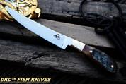 "DKC-952-440c Rusic Stag Fish Filet Knife 440c Stainless Steel Blade 7.4oz 6.75"" Blade 11"" Overall DKC KNIVES TM"